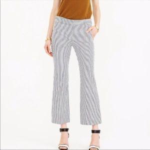 J Crew Teddie Striped Career Pants
